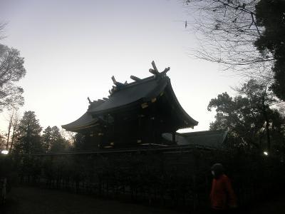 2014早朝ウォーキングで鷲宮神社の初詣