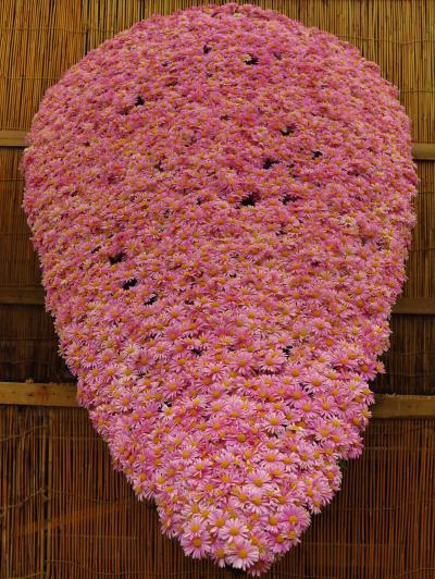 弥彦-2 弥彦神社境内 弥彦菊まつり ☆大風景花壇;《伊勢神宮》