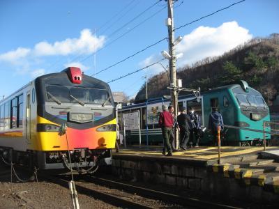 '13 冬の北東北周遊9 日本海沿いを走るリゾートしらかみ列車に乗車