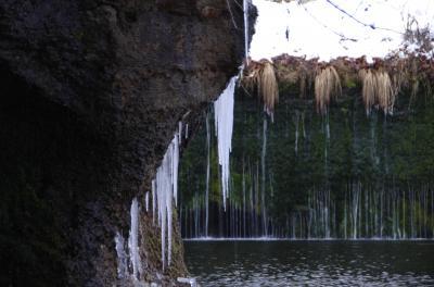 2014年1月 長野県 軽井沢 白糸の滝と氷幕
