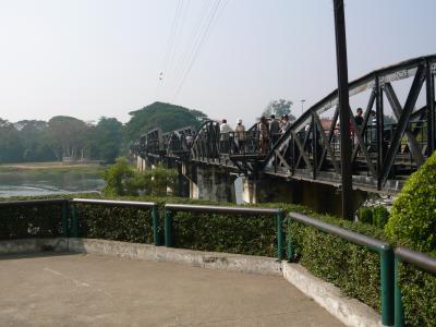 初めての鉄橋。