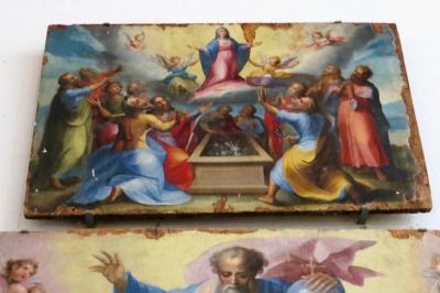 2013秋、イタリア旅行記2(48:補遺1):アマルフィ大聖堂の展示品(1/2):モザイク装飾、フレスコ画
