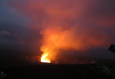 ハワイ3島周遊、(ハワイ島南周りドライブ、キラウエア火山)