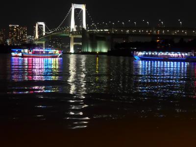 屋形船に乗り東京の夜景を満喫しました