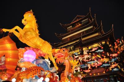 上海★旧正月目前!ランタンフェスティバルスタート♪