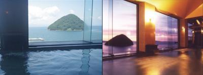 津軽の海を一望