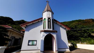 福江,上五島旅行5-上五島教会めぐり3 跡次教会,大曽教会,冷水教会,青砂ヶ浦天主堂など