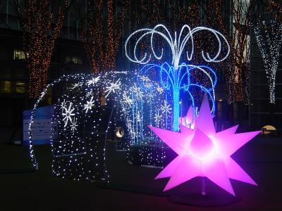 埼玉スーパーアリーナ付近の黄昏風景