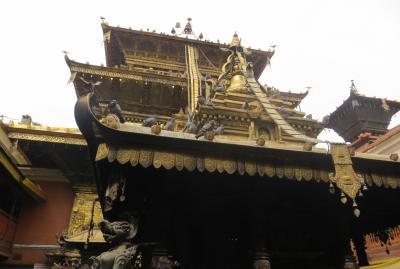2014新春、ネパール旅行記(16)1月23日(7):パタン、黄金寺院、昼食の後にカトマンズ空港へ