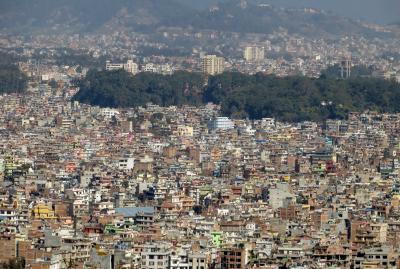 2014新春、ネパール旅行記(33)1月26日(3):カトマンズ、目玉寺院、カトマンズ市街眺望
