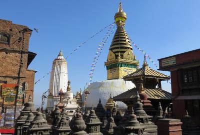 2014新春、ネパール旅行記(34)1月26日(4):カトマンズ、スワヤンブナート、マハ・チャイテャ、シカラ様式の寺院