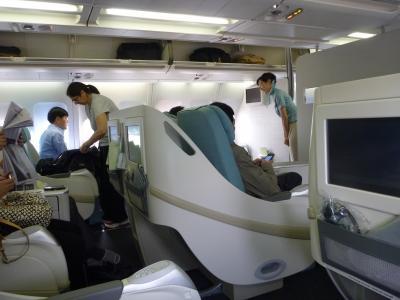 大韓航空 ソウル仁川⇒広州空港 ビジネスクラス 最新の機材は快適です。
