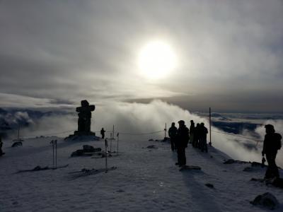 Whistler, Canadaでスキー
