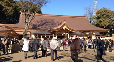 稲沢の国府宮神社 新・難追殿です。