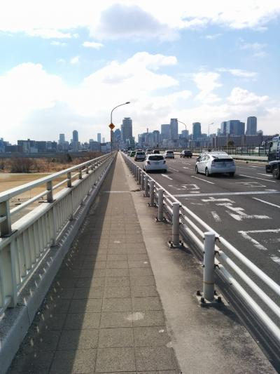 新大阪発 淀川を歩いて渡る
