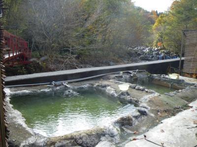 2012年11月4日福島立ち寄り湯「二岐温泉 大和館」「折原そば」「雪割橋」