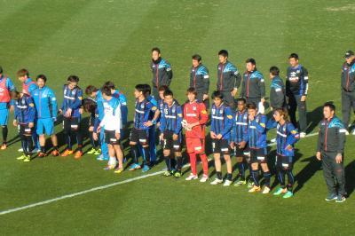 ガンバ大阪VS京都サンガプレシーズンマッチと温泉と