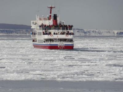 流氷と氷瀑まつりとペンギンの散歩を見に真冬の北海道へ<2>