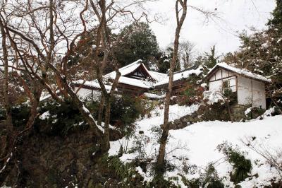 奈良市 大雪の正暦寺 古刹の雪の名庭園