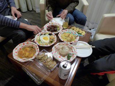 02.雪の箱根1泊 花園の小径 中華 壺仙のテイクアウトの夕食