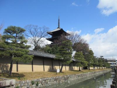 嵐の京都観光<弘法さんの後は錦天満宮へ>