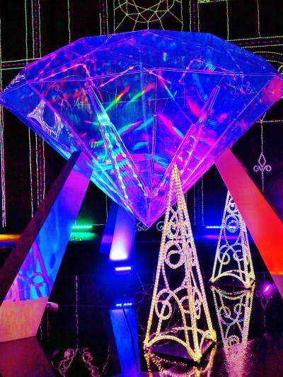 さがみ湖イルミリオンB 光の宮殿「ブリリアントパレス」 ☆斜面を活かした彩りあざやかに