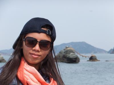 Hnin Khine (ニンニンカイン)さん 二見浦に行く。