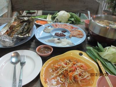 上海ー新加坡ー吉隆坡ー曼谷4都旅行記(78)ハジャイ夜の晩餐。