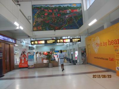 上海ー新加坡ー吉隆坡ー曼谷4都旅行記(80)ハジャイ空港。ノックエアー遅延。