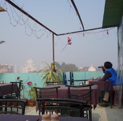 2013 インドへ Shanghai・Delhi・Varanasi・Agra タージマハルとタージマハルの見えるルーフトップレストラン 編