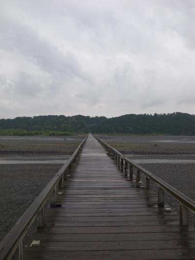 世界一長い木造歩道橋 雨の蓬莱橋