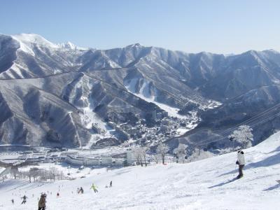 February 2007 苗場でスキー