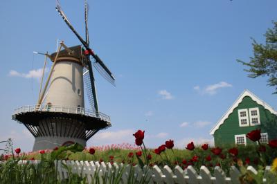 宮城にも。。。オランダ風車。。。長沼 フートピア公園 (宮城  迫町)