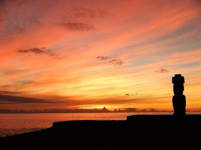 ★南米、時にはバイクで −(48)イースター・サンデーの夕日を見に行った。