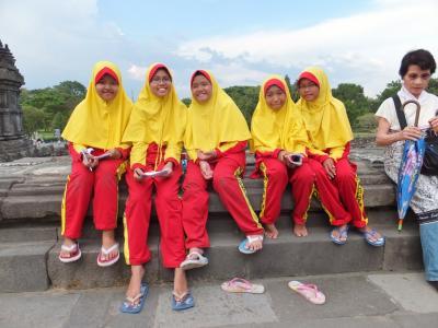 母娘のインドネシア旅行 プランバナン寺院