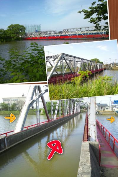 川の立体交差