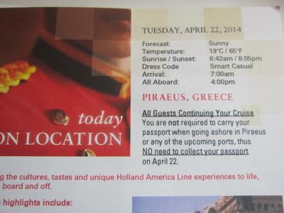 アジア~中近東~ヨーロッパまで★ NO.11Apr 22 Athens (Piraeus), Greece