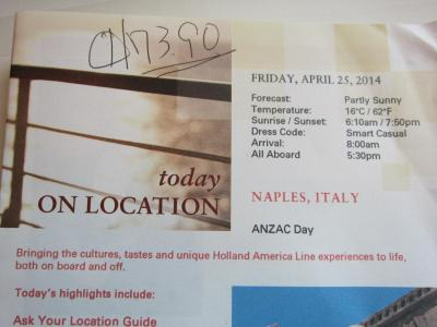アジア~中近東~ヨーロッパまで★ NO.13 Apr25 Naples (Capri), Italy