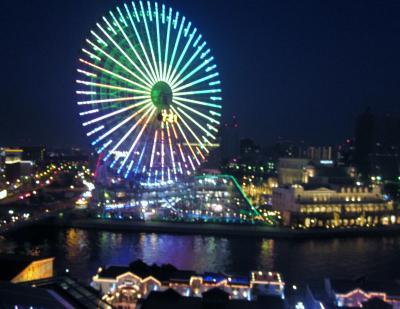 横浜開港祭です(その2) ナイトクルーズとホテルの部屋から夜景を堪能しました。