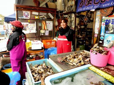 家族旅行2014冬;今年のテーマは牡蠣と蟹02赤穂の生牡蠣を堪能