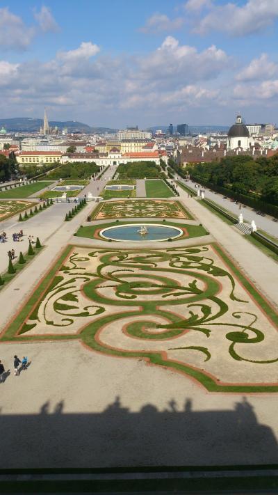 のんびり行こう♪ドイツ・オーストリア12日間親子旅。vol.20 ウイーンも最終日!美しい眺めのベルヴェデーレ宮殿o(^_^)o
