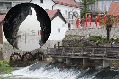 ピウカ川で形成された鍾乳洞ポストイナ