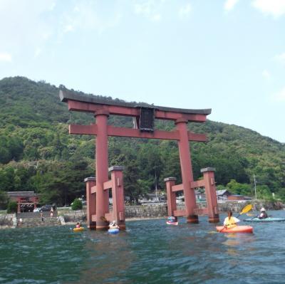 琵琶湖でカヌー体験!鳥居をくぐる!?