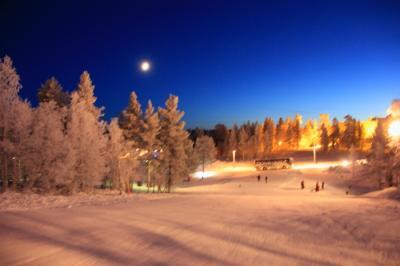 フィンランド-白銀の世界での満天の星空とオーロラ-