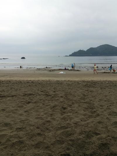砂とたわむれた弓ヶ浜