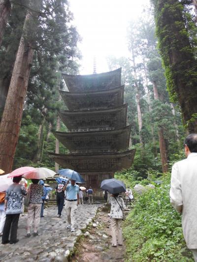 雨の羽黒山参拝(午年ご縁年)