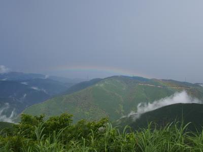 滋賀・伊吹山には虹が