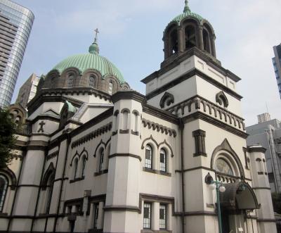 御茶ノ水の東京復活大聖堂(ニコライ堂)を見て~夜は銀座で娘達にご馳走になりました。