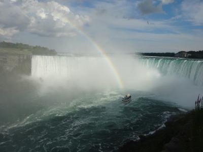 マイナスイオンたっぷり虹のナイアガラ滝 / ナイアガラ・フォールズ / カナダ(一部アメリカ)