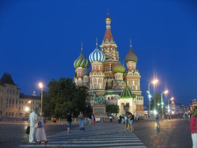 '14 ロシア旅行17 ツム百貨店~ゴドノフ~赤の広場ライトアップ